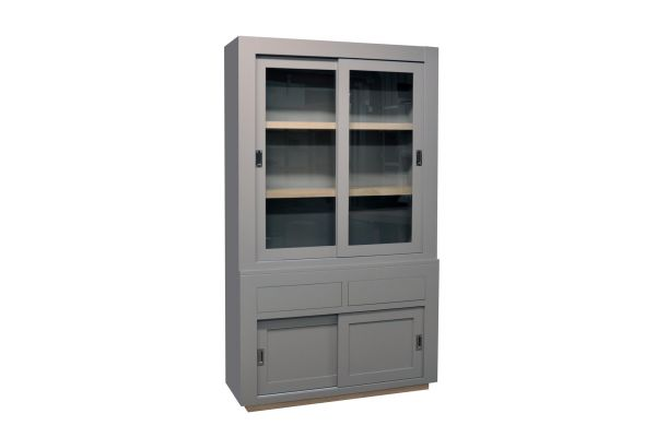Glaskast Allure 4 deuren 2 laden