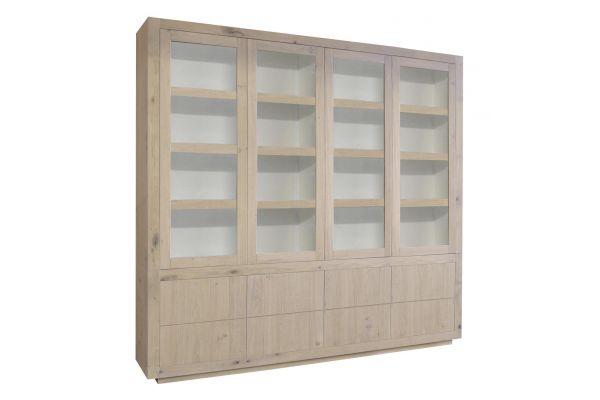 Glaskast Helder 4 deuren 8 laden