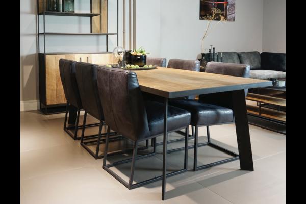 STEEL dining table 250 x 100 x 76 cm