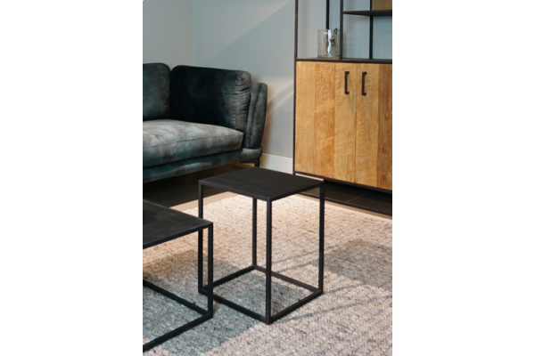 STEEL Sidetable Black 35 x 35 x 45 cm