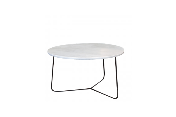 Coffe Table White 80 rond 40 H cm