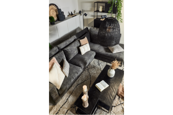 Coffe Table Visgraat black