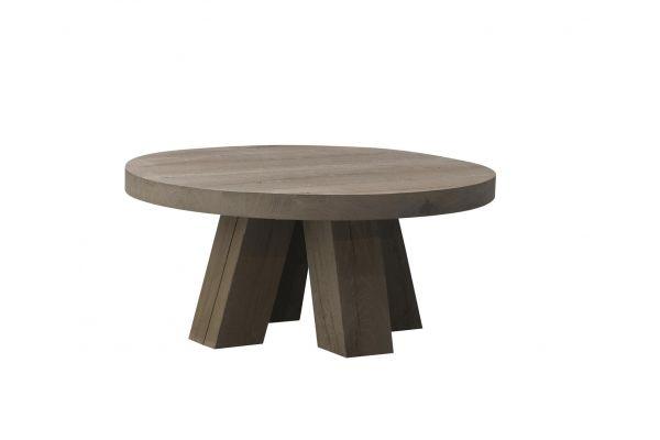 Gaudi ronde eiken salontafel