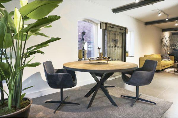 STEEL Round dining table 140 x 140 x 76 cm