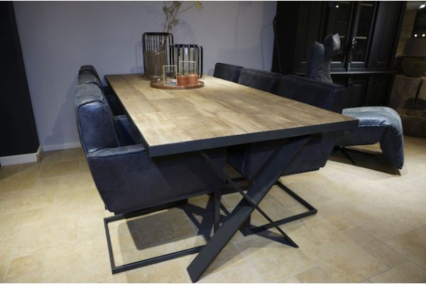 STEEL dining table 250x100x76