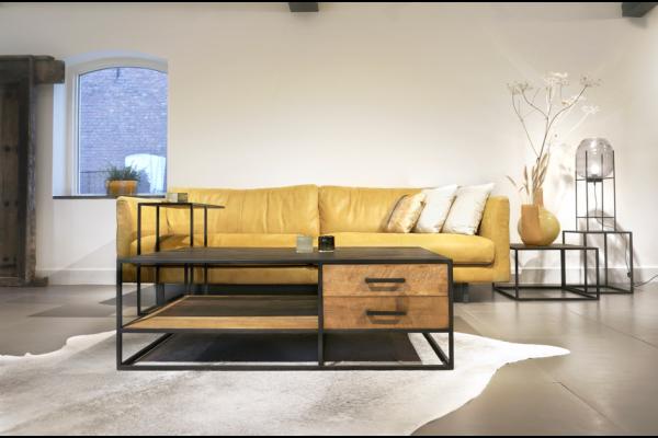 STEEL Coffee Table met 2 lades 120 x 75 x 40 cm