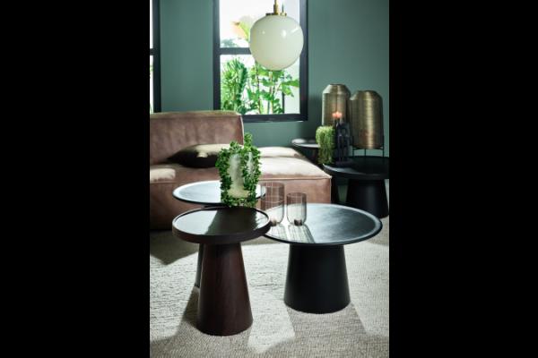 Coffe Table Walnut 46 rond 50 cm hoog