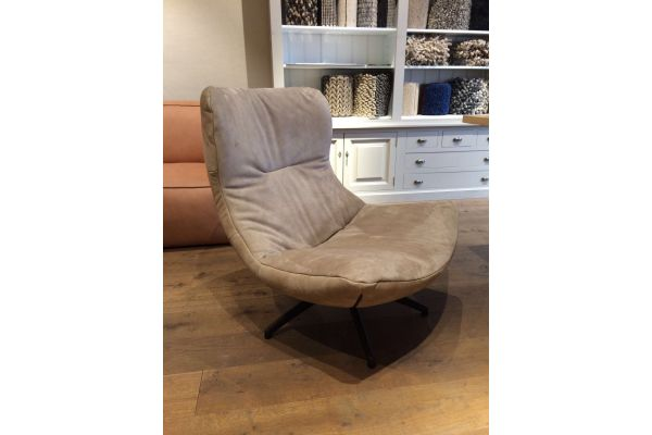 Melano fauteuil op rvs draaipoot